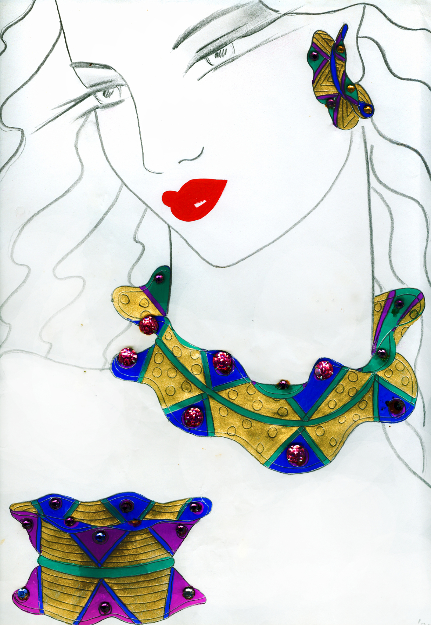 Jewelry Drawing These Drawings of Jewelry Are